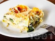 Зеленчукова лазаня със спанак, броколи и бешамелов сос